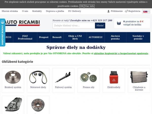 autoricambi.sk