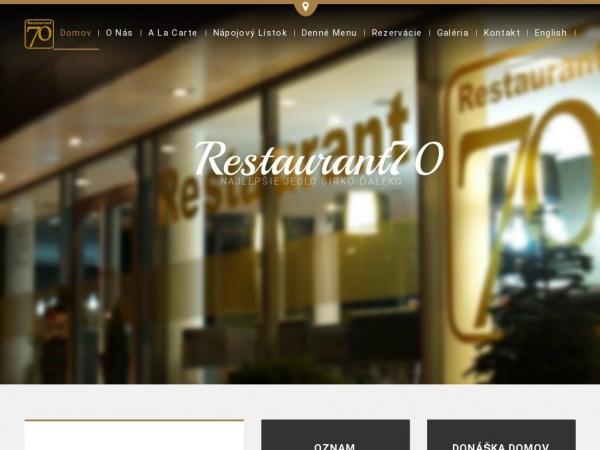restaurant70.sk