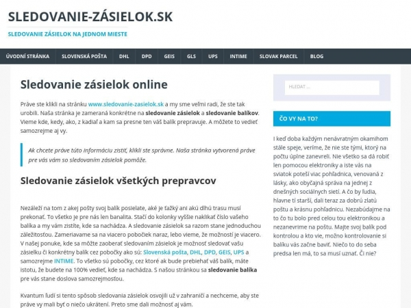 sledovanie-zasielok.sk