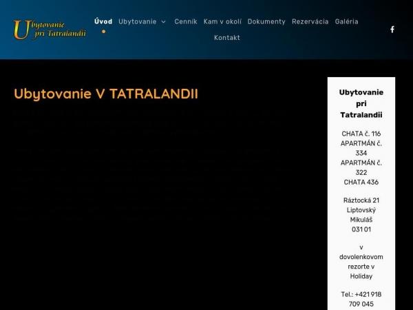 ubytovanie-tatralandia.sk